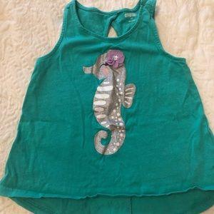 Gymboree girls seahorse tank top